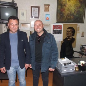 L'ex ministro moldavo Boris Focsa e il Presidente di PT Group Salute Paolo Trotta