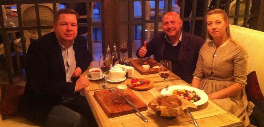 Con il nostro amico ucraino e diplomatico a chisinau