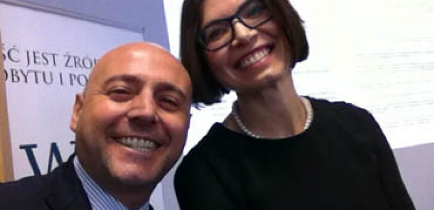 Il Dott. Trotta e L'Avv. Anna Tarasiuk